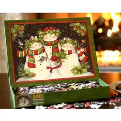 Snowmen Family Christmas Jigsaw Puzzle