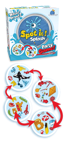 Spot It! Splash Party Game