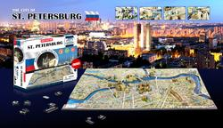 Saint Petersburg, Russia Maps 4D Puzzle