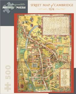 Street Map of Cambridge 1574 History Jigsaw Puzzle