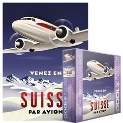 Come to Switzerland by Plane Nostalgic / Retro Jigsaw Puzzle