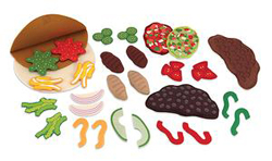Felt Play Food - Taco & Burrito Set Food and Drink Pretend Play