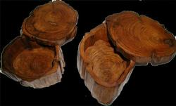 Teak Log Box Novelty
