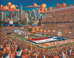 Texas Longhorns Folk Art Jigsaw Puzzle