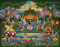 The Fairy Family Folk Art Jigsaw Puzzle