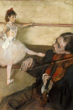 The Dance Lesson by Edgar Degas Fine Art