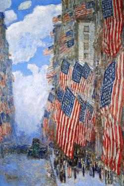 The Fourth of July by Childe Hassam Fourth of July