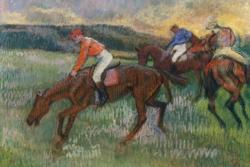 Three Horse Jockeys by Edgar Degas Fine Art