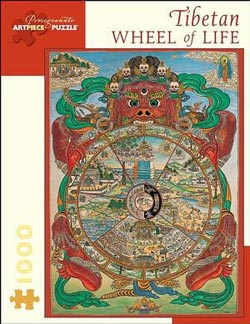 Tibetan Wheel of Life Cultural Art Jigsaw Puzzle
