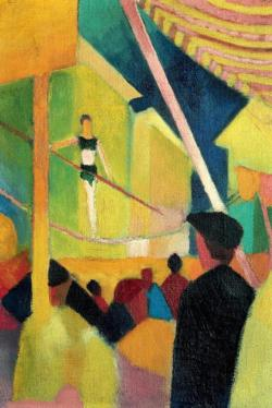 Tightrope Walker by August Macke People