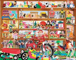 Vintage Toys Collage Jigsaw Puzzle