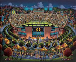 University of Oregon Ducks Folk Art Jigsaw Puzzle