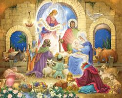 Glorious Nativity Religious Jigsaw Puzzle