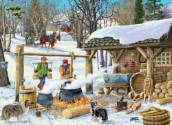 Maple Syrup Time Cottage / Cabin Jigsaw Puzzle