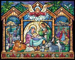 Stained Glass Nativity Religious Jigsaw Puzzle