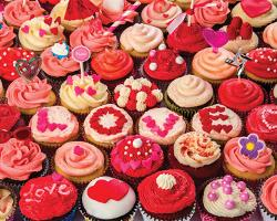 Cupcakes of Love Valentine's Day Jigsaw Puzzle