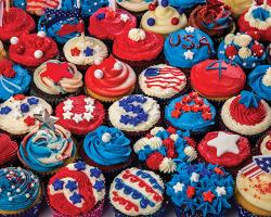 Patriotic Cupcakes Fourth of July Jigsaw Puzzle