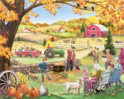 Countryside Autumn Farm Animals Jigsaw Puzzle