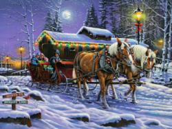 A Trot Down Memory Lane Snow Jigsaw Puzzle