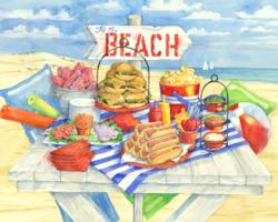 Picnic at the Beach Picnic Jigsaw Puzzle