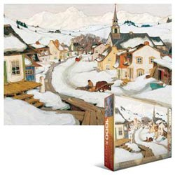 Village in the Laurentians Canada Jigsaw Puzzle