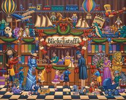 Vintage Toy Store Folk Art Jigsaw Puzzle