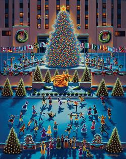 Winter Fun Americana & Folk Art Jigsaw Puzzle