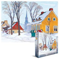 Winter Morning in Baie-St-Paul Snow Jigsaw Puzzle