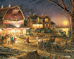 Harvest Moon Ball (Terry Redlin Collection) Dance Jigsaw Puzzle