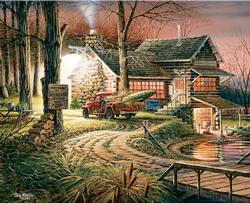 Hunters Haven (Terry Redlin Collection) Cottage/Cabin Jigsaw Puzzle