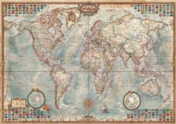 The World Executive Map, 4000 pcs Maps Jigsaw Puzzle