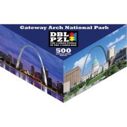 Gateway Arch National Park St. Louis Triangular Puzzle Box