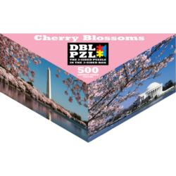 Cherry Blossoms Landmarks / Monuments Triangular Puzzle Box
