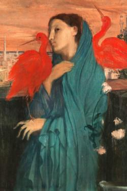 Young Woman with Ibis by Edgar Degas Fine Art