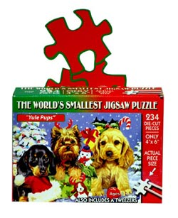World's Smallest Puzzles Christmas - Yule Pups Christmas Jigsaw Puzzle