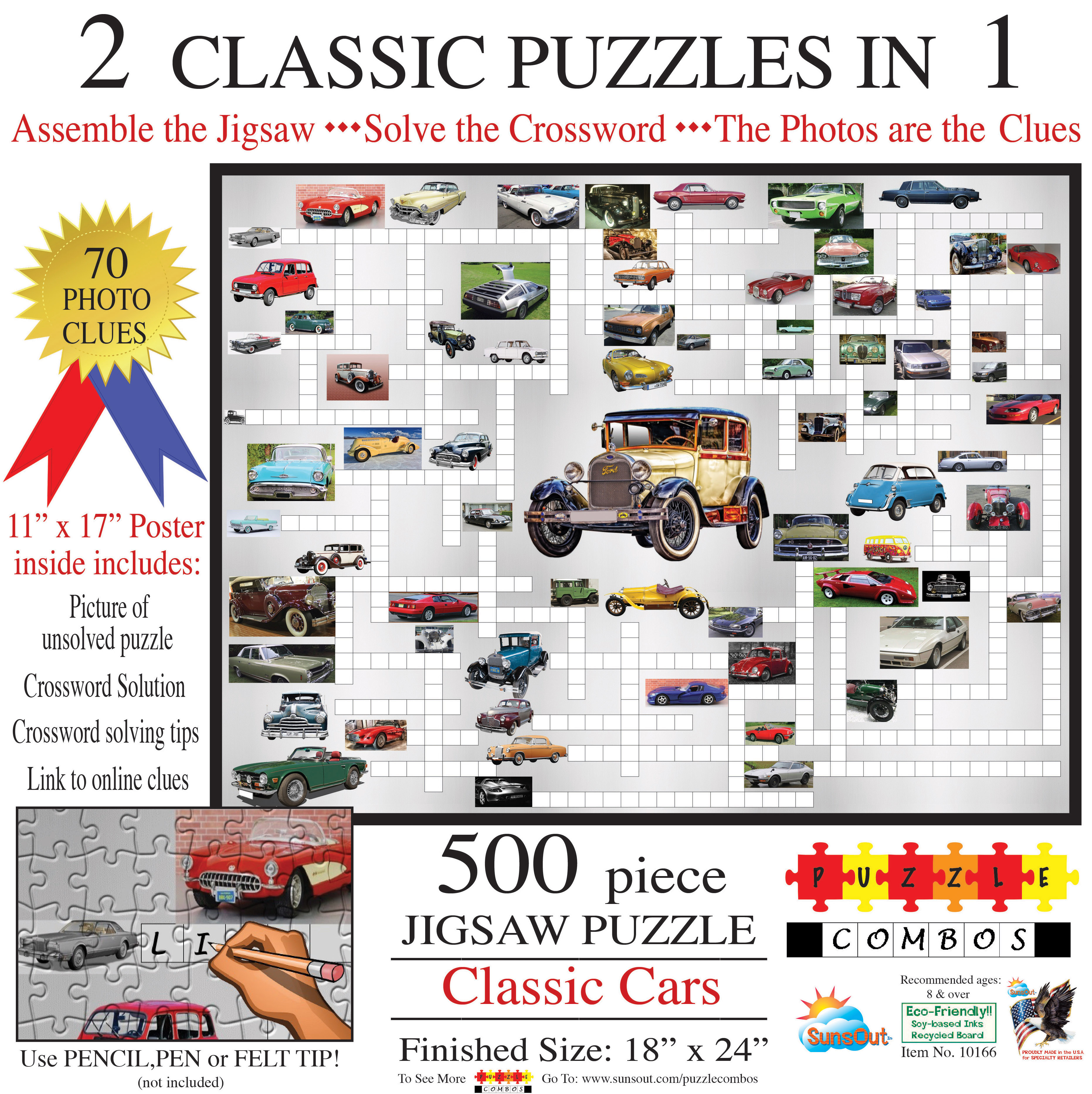 Puzzle Combo: Classic Cars