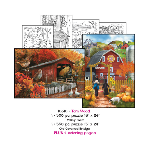 Tom Wood Coloring Page/Puzzle Set