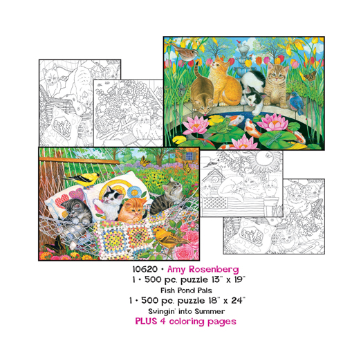 Amy Rosenberg Coloring Page/Puzzle Set