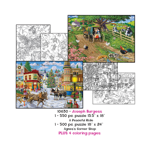 Joesph Burgess Coloring Page/Puzzle Set