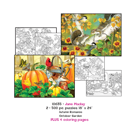 Jane Maday Coloring Page/Puzzle Set