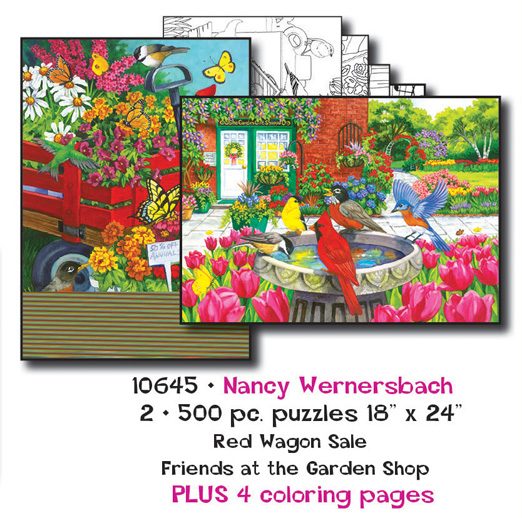 Nancy Wernersbach Coloring Page/Puzzle Set