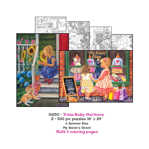 Tricia Reilly-Matthews Coloring Page/Puzzle Set