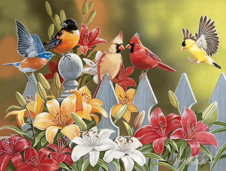 Birds on a Fence 300