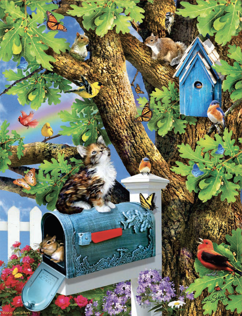 Kitty and Birdhouse 1000