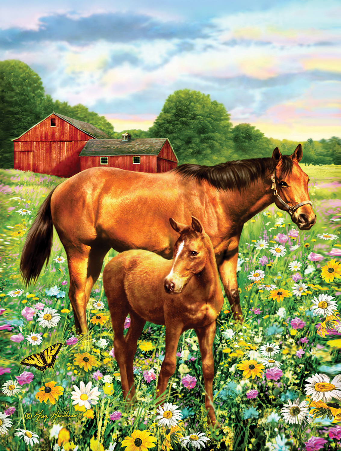 Mare and Foal 500