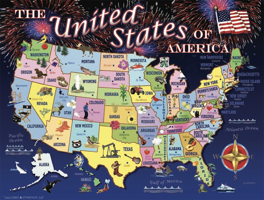 United States Map 1000