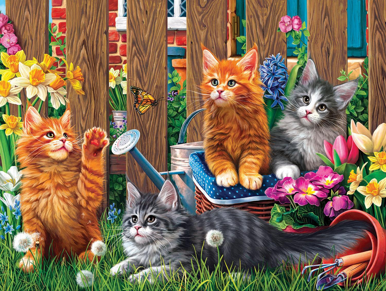 Kittens in the Garden 300