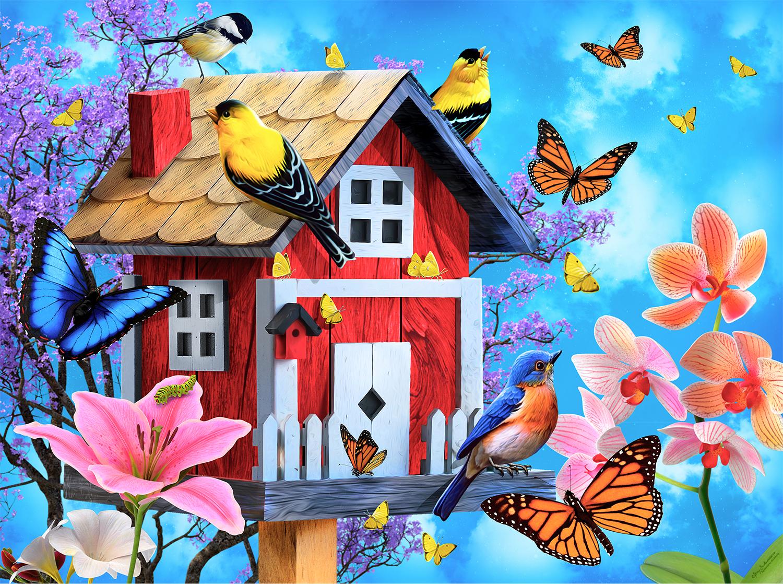 Red Birdhouse 1000