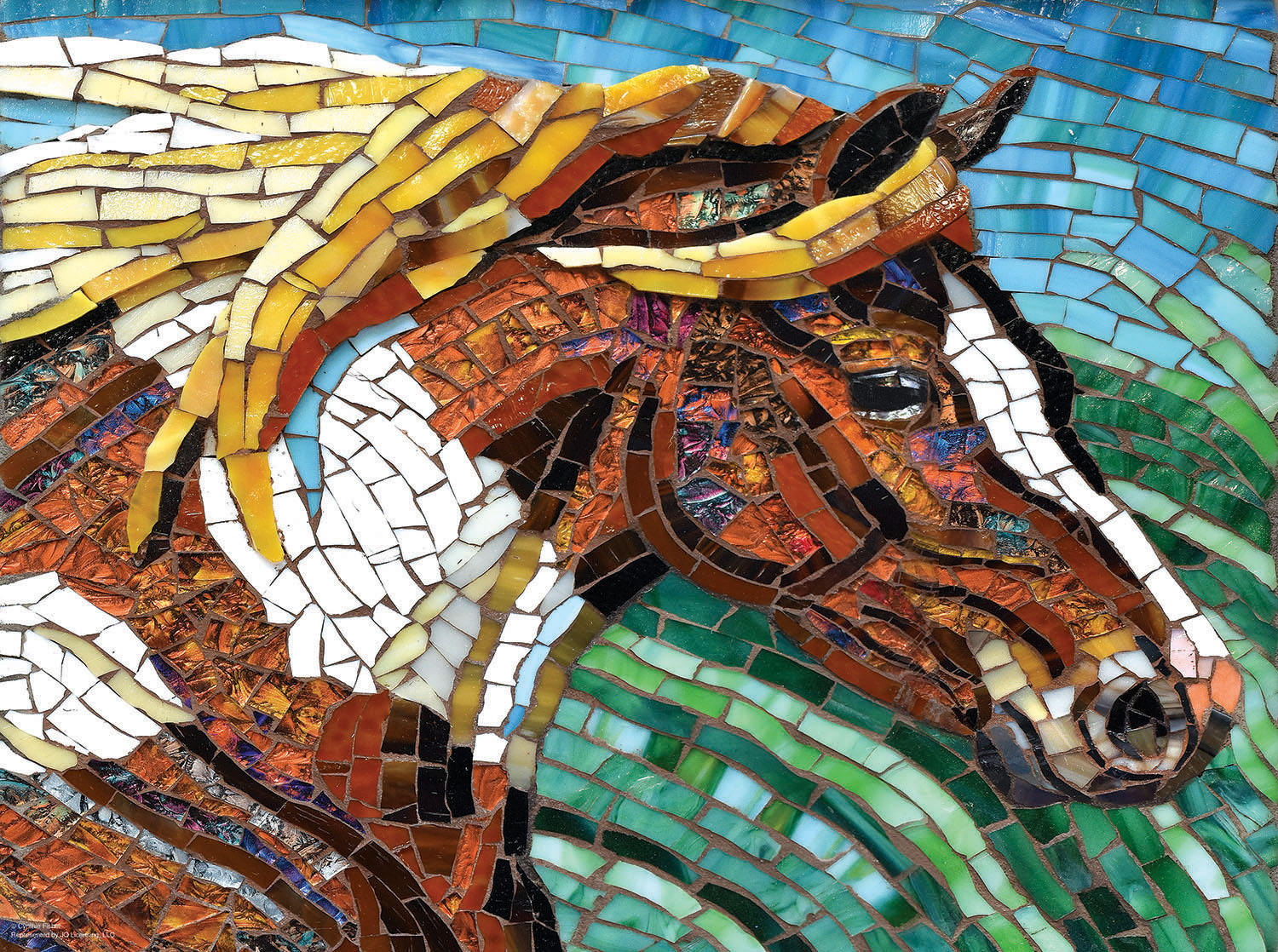 Stained Glass Horse 1000
