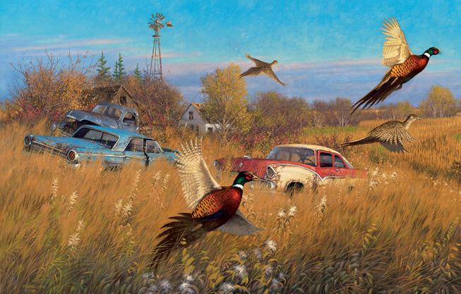 Jumping Pheasants